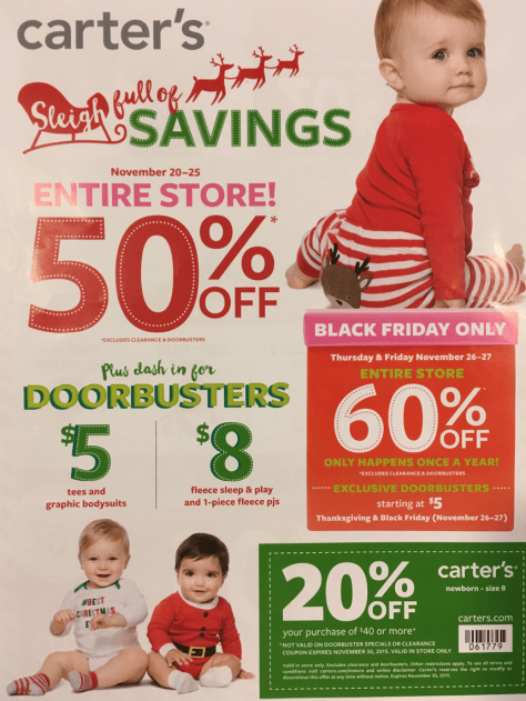Carters Black Friday 2015 Ad - Page 1