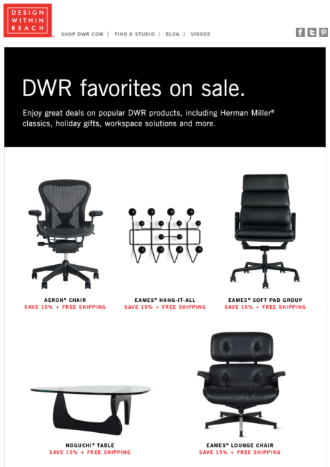 Design Within Reach Black Friday Ad - Page 1