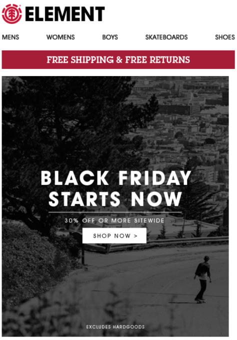 Element Black Friday 2015 Flyer - Page 1