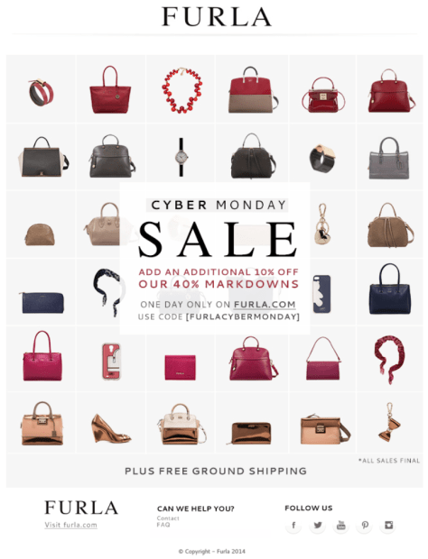 Furla Cyber Monday Ad - Page 1