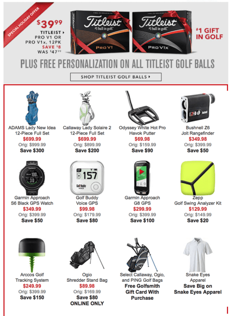 Golfsmith Cyber Monday 2015 Ad - Page 6
