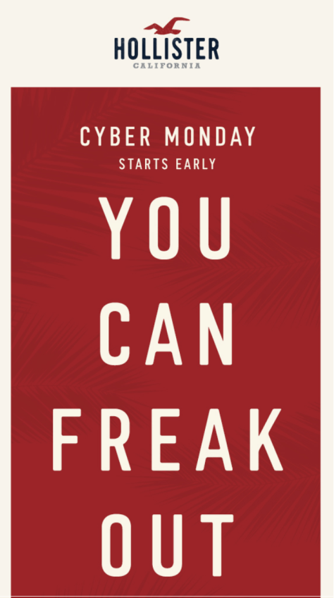 Hollister Cyber Monday 2015 Ad - Page 1