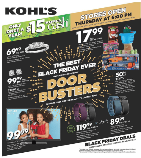 Kohls Black Friday 2015 Ad - Page 1