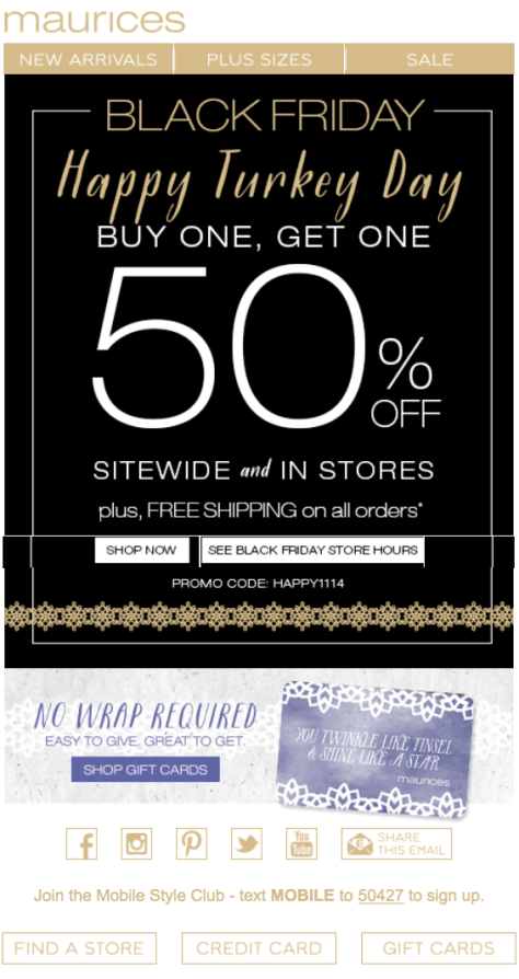 Maurices Black Friday Ad - Page 1