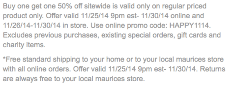 Maurices Black Friday Ad - Page 2