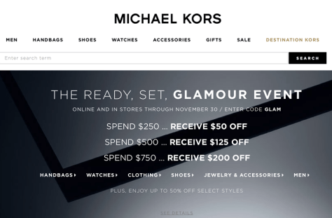Michael Kors Black Friday 2015 Ad - Page 1