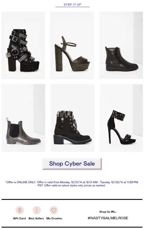 Nasty Gal Cyber Monday Ad - Page 3