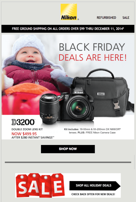 Nikon Black Friday Ad - Page 1