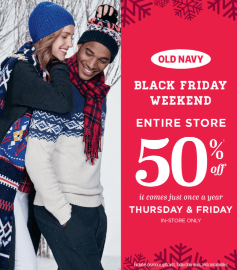 Old Navy Black Friday 2015 Ad - Page 1