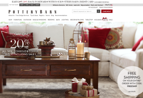 Pottery Barn Cyber Monday 2015 Ad - Page 1
