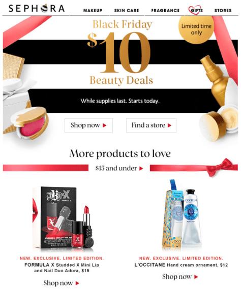 Sephora Black Friday 2015 Ad - Page 1