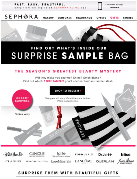 Sephora Cyber Monday Ad - Page 1