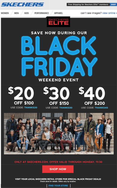 Skechers Black Friday 2015 Ad - Page 1