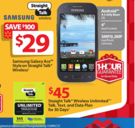 Straight Talk Wireless Black Friday Ad - Page 1