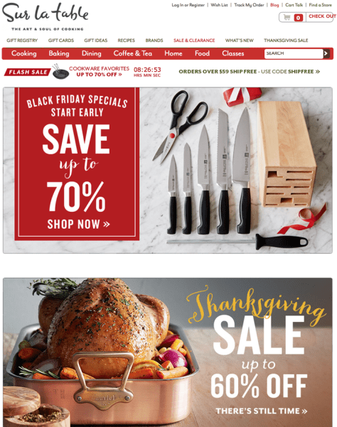 Sur la Table Black Friday 2015 Flyer - Page 1