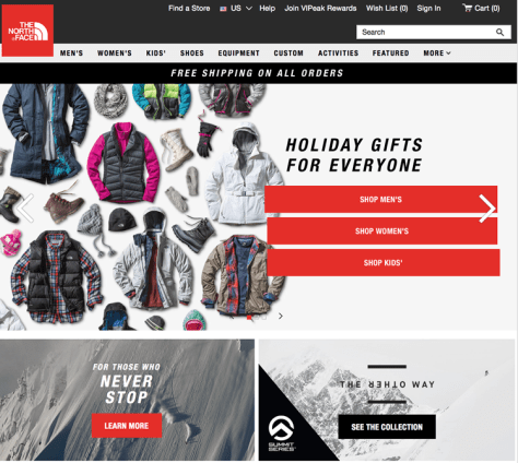 The North Face Black Friday 2015 Ad - Page 1