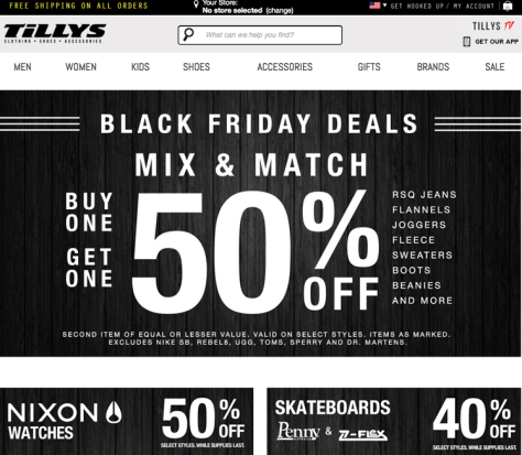 deviatemonth.ml — Tilly's Free Shipping Code; From time to time, these sites present exclusive deals at Tilly's, so there's no harm in taking a peek. Free Shipping at Tilly's — A Great Way to Get Your Gear. I've never been a golfer, so odds aren't good that I'll be hanging up my skateboard to hit the links. Riding the ramps keeps me young, and Tilly's keeps me stocked on everything I need to keep rolling.