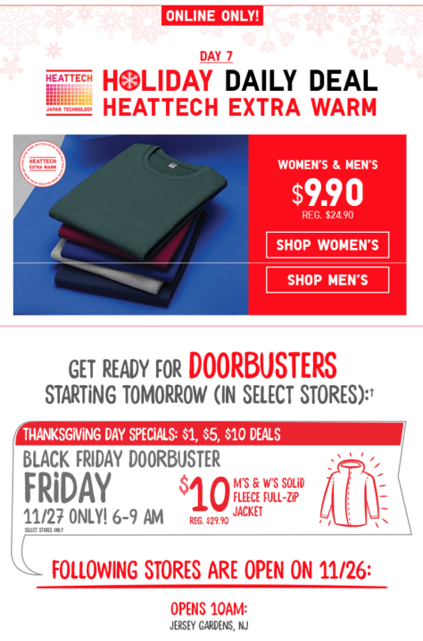 UNIQLO Black Friday 2015 Flyer - Page 4