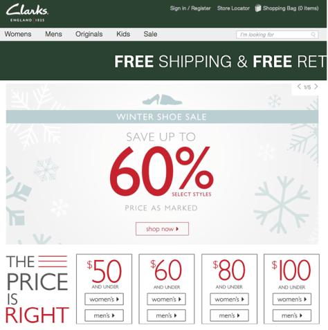 Clarks After Christmas Sale 2015 - Page 1