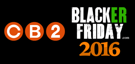 CB2 Black Friday 2016