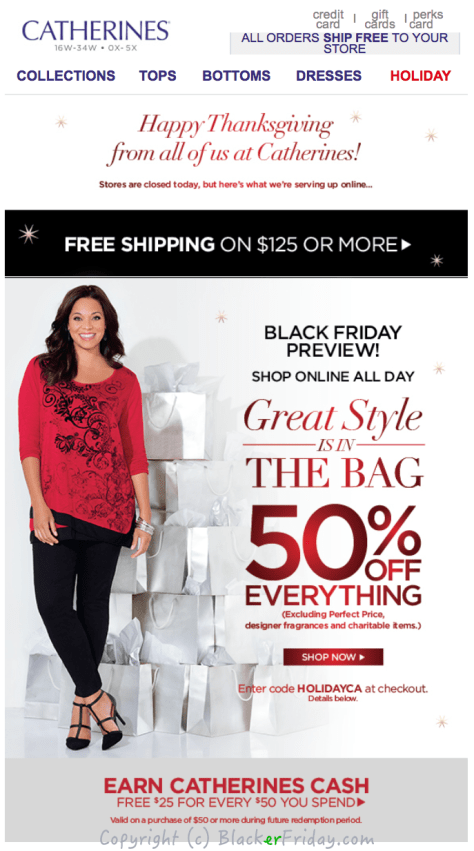 Catherines Black Friday Ad Scan - Page 1