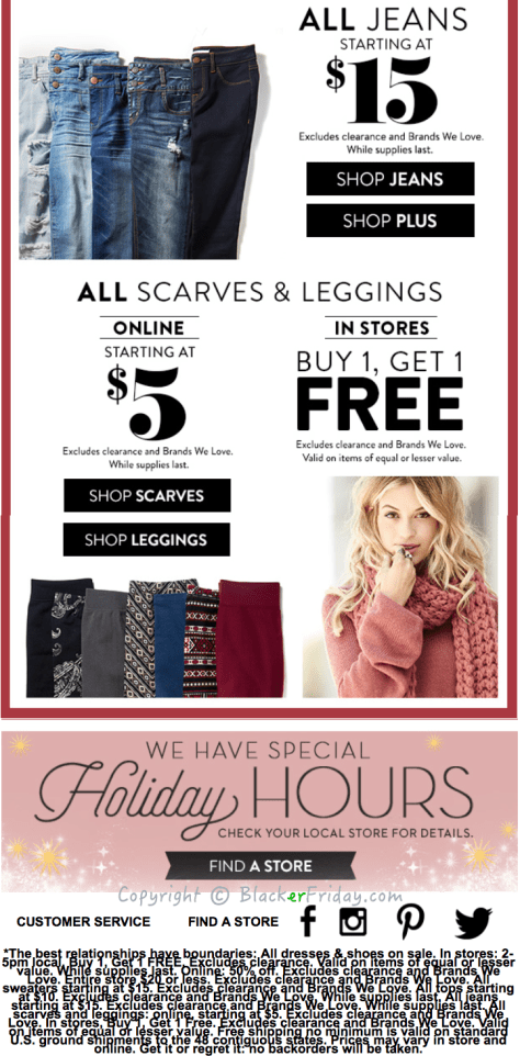 Charlotte Russe Black Friday Ad Scan - Page 3