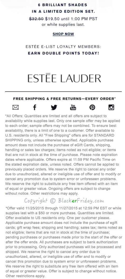 Estee Lauder Black Friday Ad Scan - Page 2