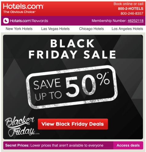 Hotels com Black Friday Sale - Page 1
