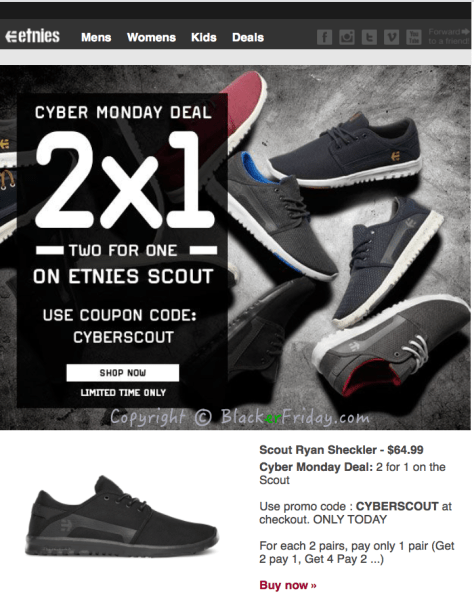 Etnies Cyber Monday Ad Scan - Page 1