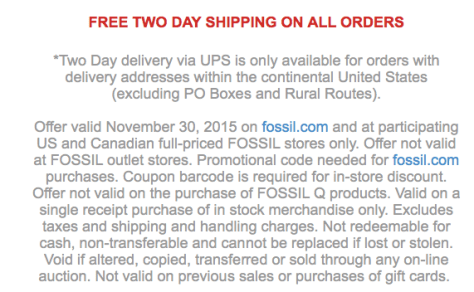 Fossil Cyber Monday Ad Scan - Page 2