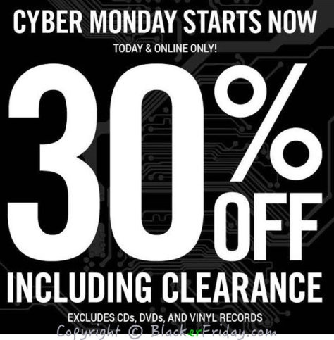 Hot Topic Cyber Monday Ad Scan - Page 1