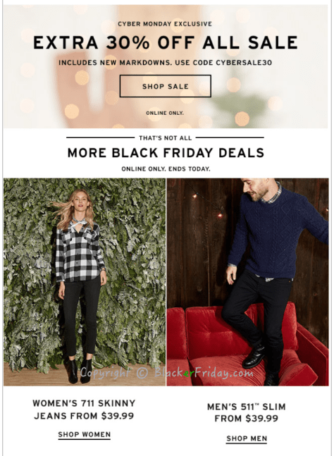 Levis Cyber Monday Ad Scan - Page 2