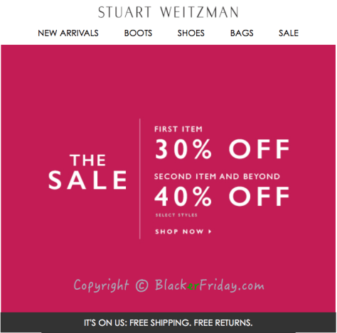 Stuart Weitzman Cyber Monday Ad Scan - Page 1