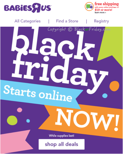 Babies R Us Black Friday Ad Scan - Page 1