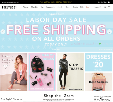 Forever 21 Labor Day 2016 Sale - Page 1