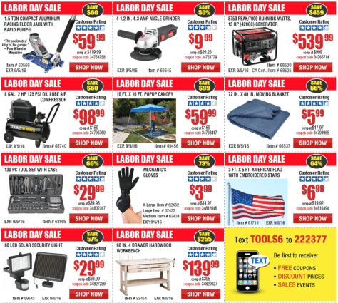 Harbor Freight Tools Labor Day 2016 Sale - Page 2