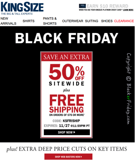 Kingsize Black Friday Ad Scan - Page 1