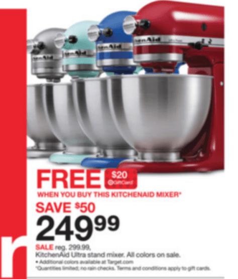 KitchenAid Artisan Mixer Black Friday - Target