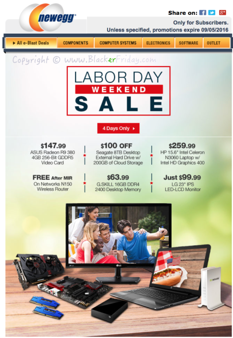 New Egg Labor Day 2016 Sale - Page 1