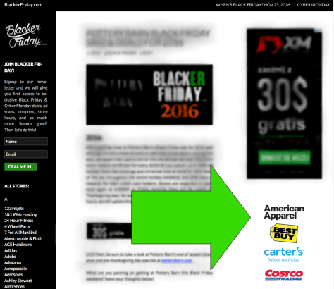sitewide logo placement example