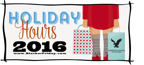 American Eagle Outfitters Black Friday Opening Hours 2016