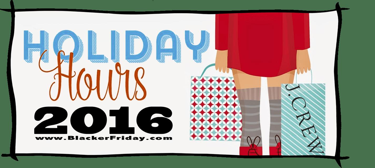 JCrew Black Friday Store Hours 2016