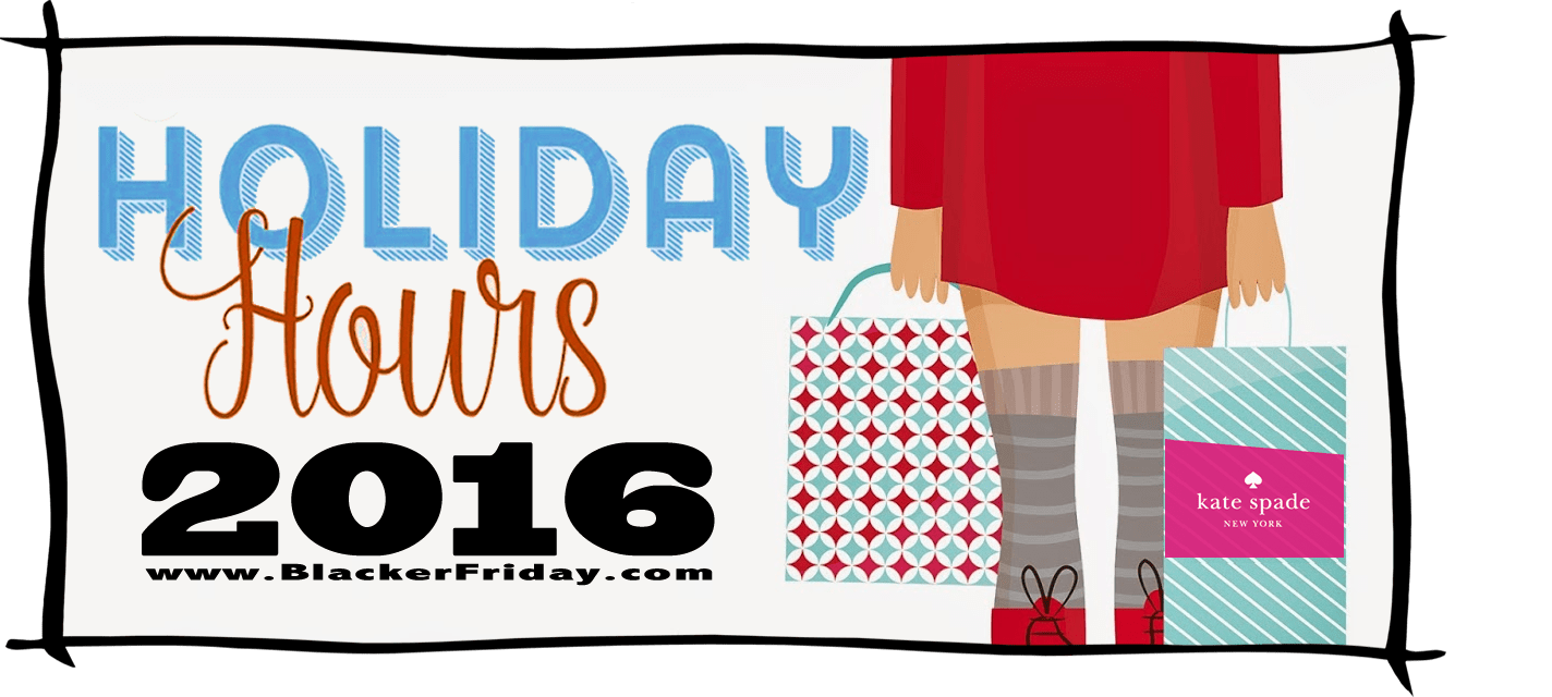 Kate Spade Black Friday Store Hours 2016