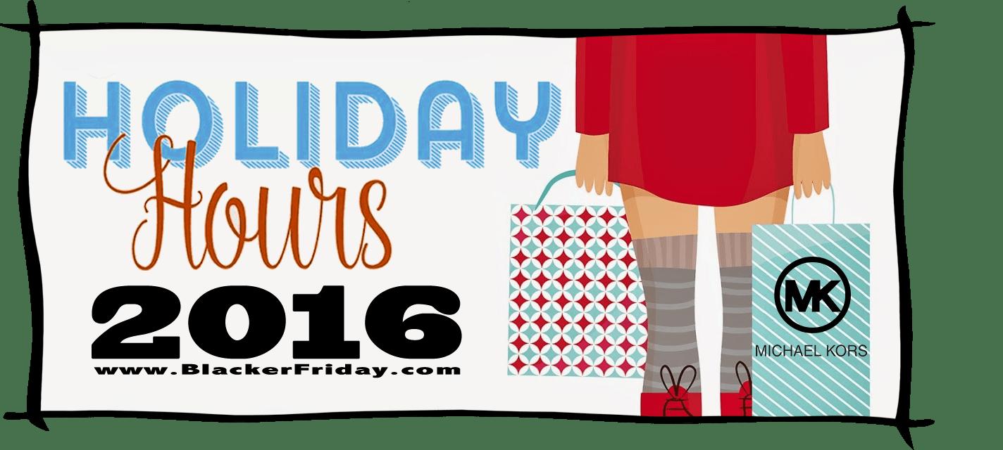 Michael Kors Black Friday Store Hours 2016