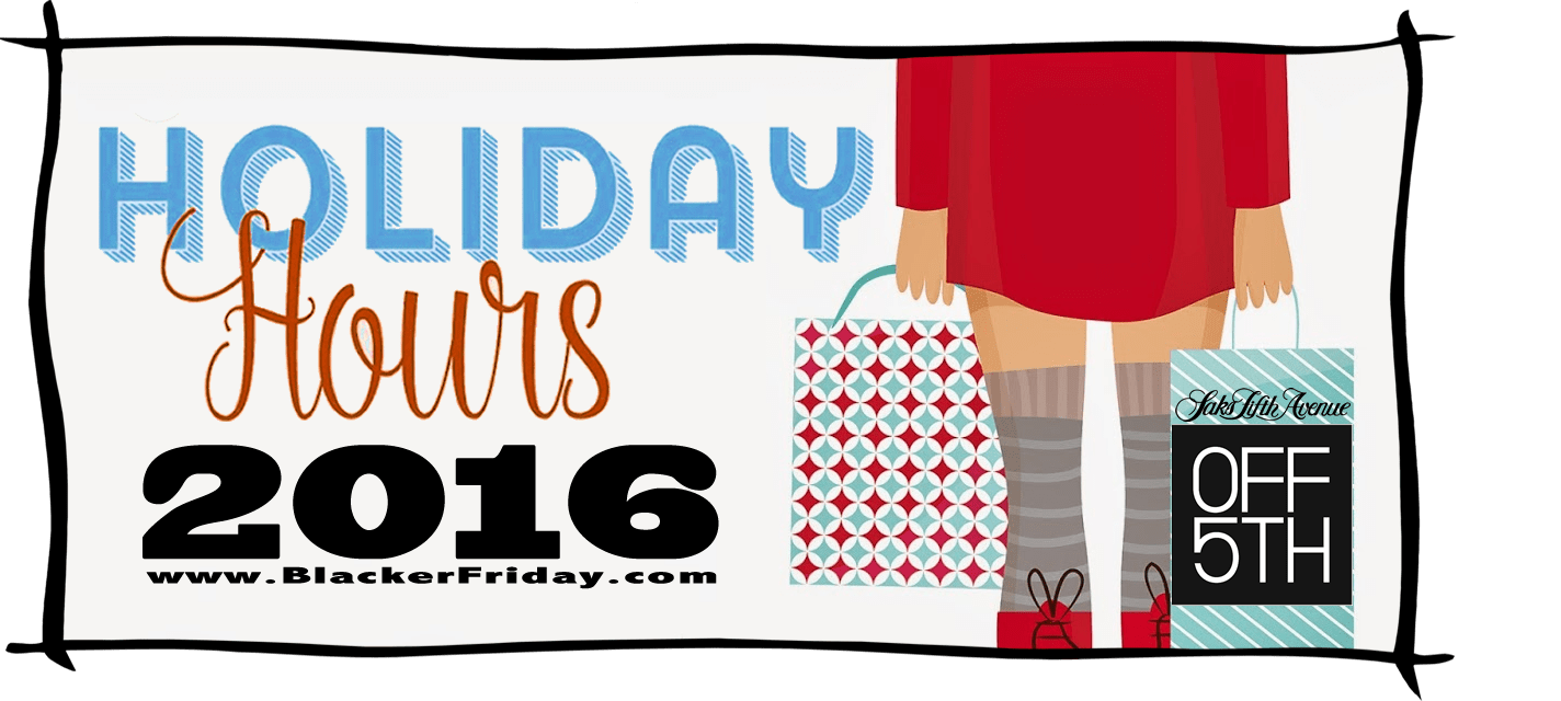 Saks Fifth Avenue Off 5th Black Friday Store Hours 2016