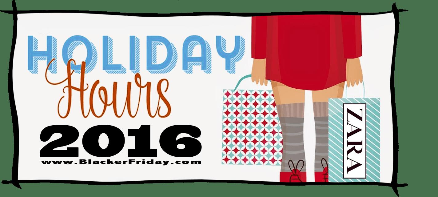 Zara Black Friday Store Hours 2016