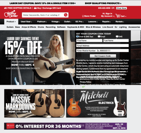 Guitar Center Labor Day 2016 Sale - Page 1