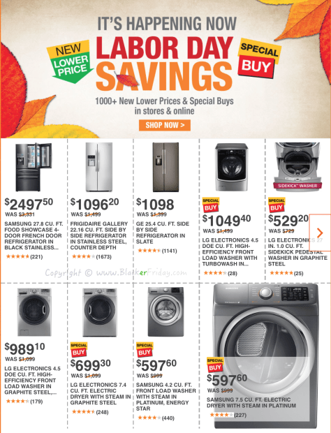 Home Depot Labor Day 2016 Sale Flyer - Page 1