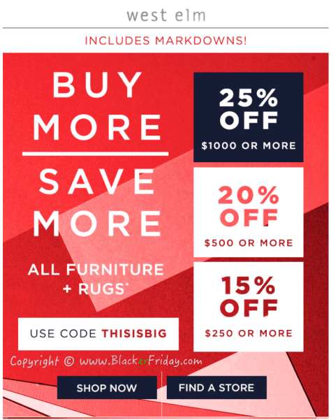 West Elm Labor Day 2016 Sale - Page 1