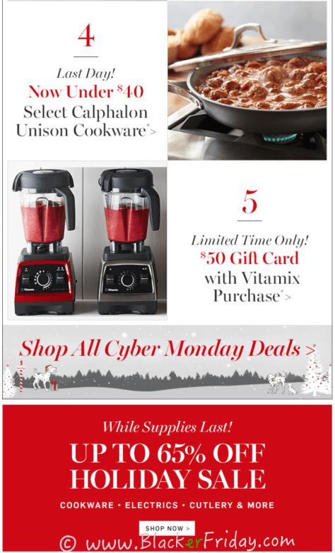 Williams Sonoma Cyber Monday Sale Ad Scan - Page 3